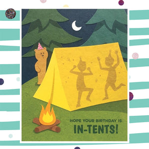 Tent Birthday - Recycled Paper Card