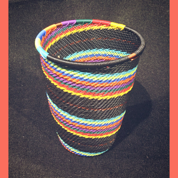 Wire Basket - Rainbow Lines -Cup
