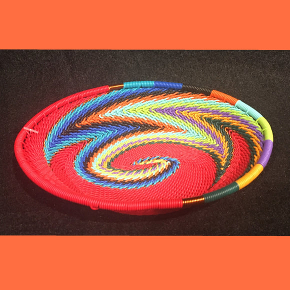 Wire Basket - Red Rainbow - Small Oval
