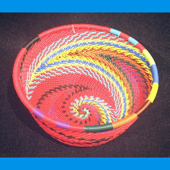 Wire Basket - Red Rainbow - Small Bowl