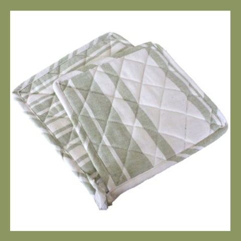 Cotton Potholder - Sage