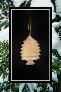 Tagua Nut Christmas Tree 3D Ornament
