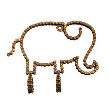 Elephant Recycled Bicycle Chain Hook