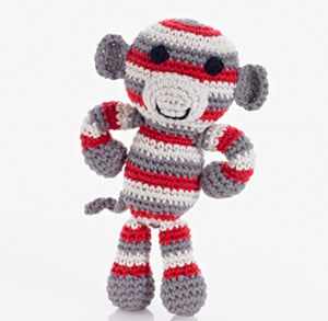 Striped Toy Monkey