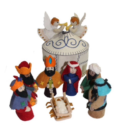 Nativity Set - Hand felted Wool