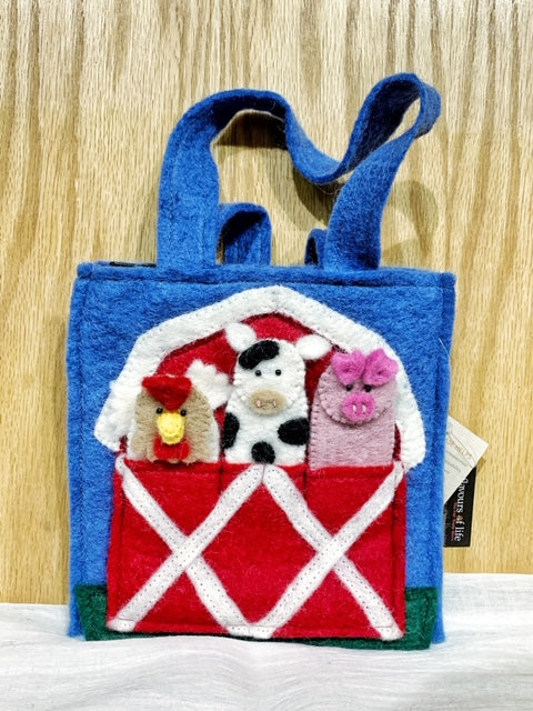 Felt Bag w/ Finger Puppets