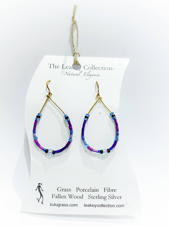 Zulugrass Jewelry - Earrings (Raindrop)