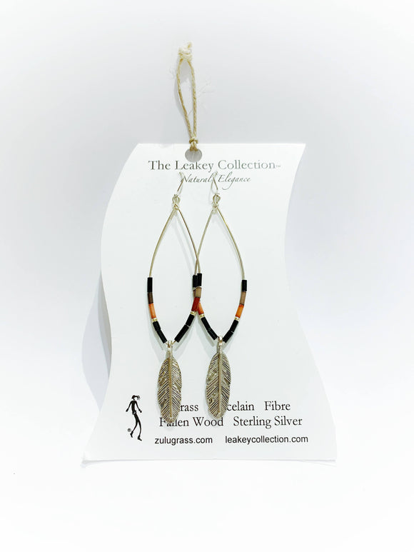 Zulugrass jewelry - Earrings (Feather)