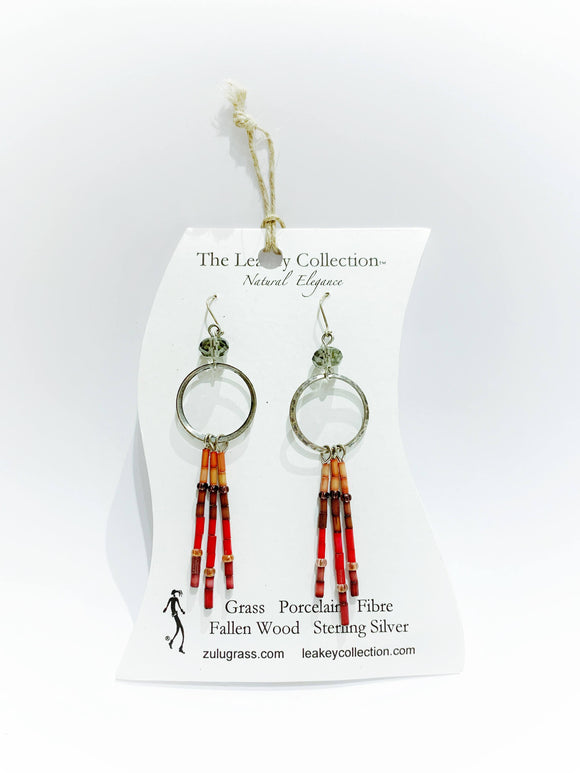 Zulugrass Jewelry - Earrings (Large Hoop Fringe)