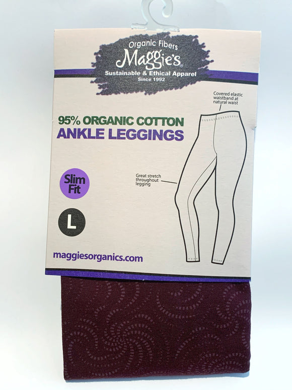 Leggings - Maroon Patterned