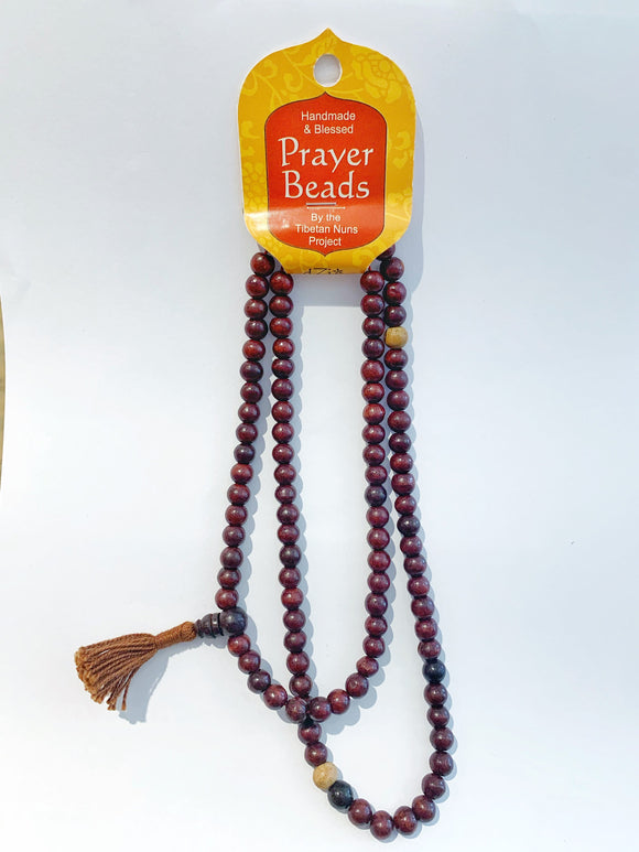 Prayer Bead Necklace - Rosewood