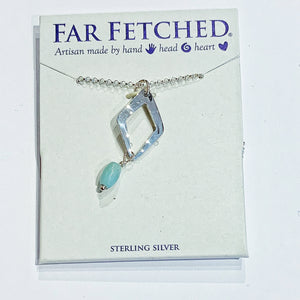 Far Fetched Necklace - Diamond Cutout (Blue)