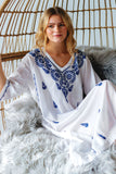Embroidered Cotton Kaftan