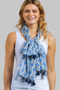 Blue Flower Scarf
