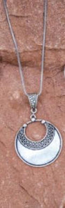 Silver Disc Pendent