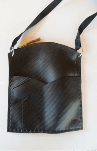 Recycled Tire Small Cross body Bag