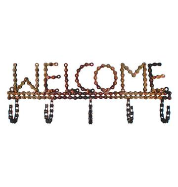 Recycled Bicycle Chain Welcome Hook
