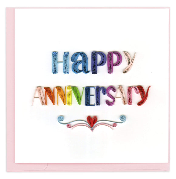Happy Anniversary - Quilling Card