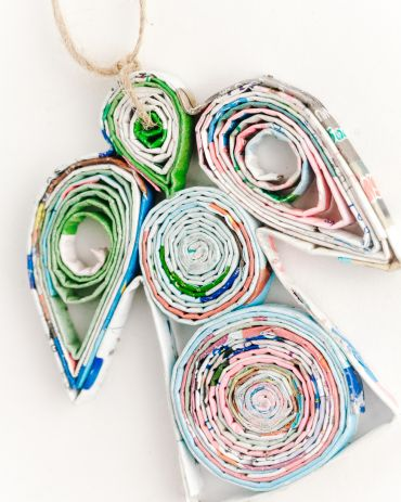 Recycled Paper Ornaments - Angel