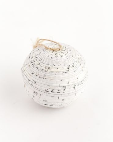 Recycled Paper Ornaments - Ball