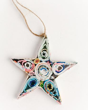 Recycled Paper Ornaments - Star