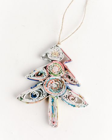 Recycled Paper Ornaments - Tree