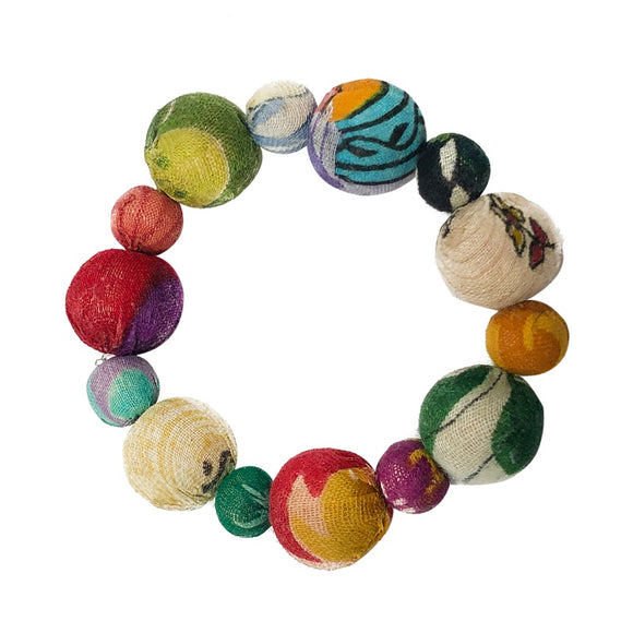 Kantha Bead Jewelry - Bauble Bracelet