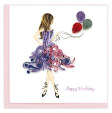 Birthday Dress - Quilling Card