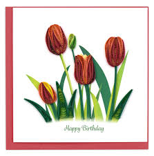 Birthday Tulip - Quilling Card