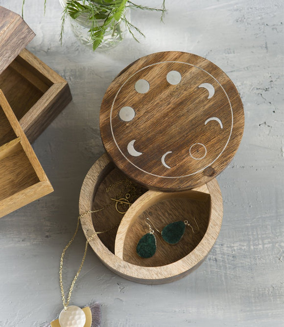 Circle Moon Jewelry Box