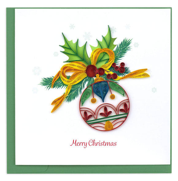 Christmas Ornament - Quilling Card