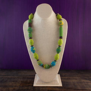 Fabric Necklace - Recycled Materials