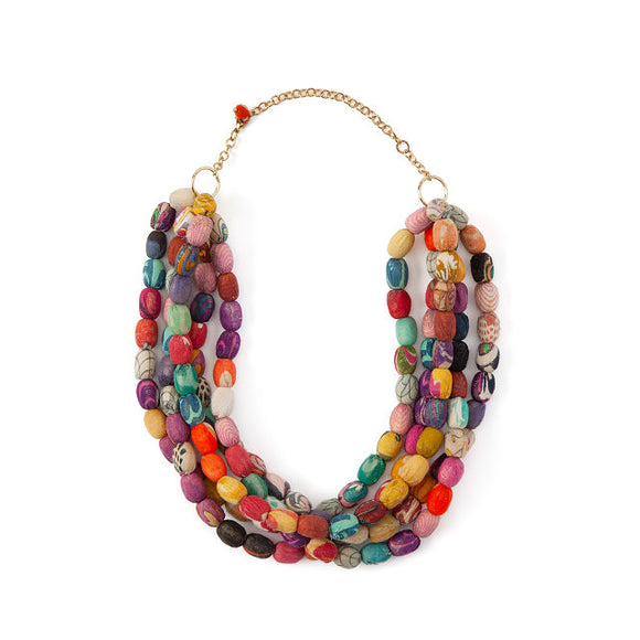 Kantha Bead Jewelry - Collar Necklace