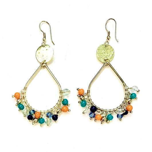 Earrings - Confetti Hoop