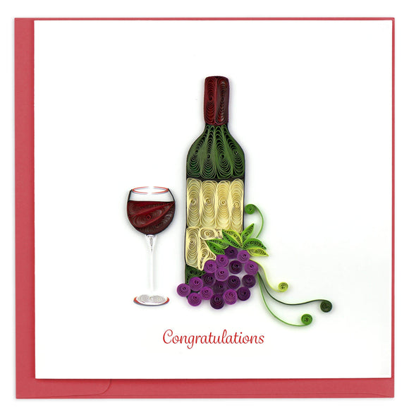 Congratulations Wine - Quilling Card