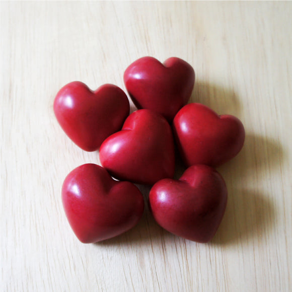 Plain Red Soapstone Heart