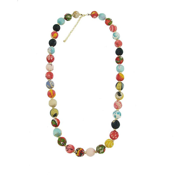 Kantha Bead Jewelry - Garland Necklace