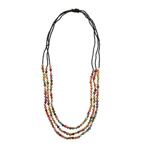 Kantha Bead Jewelry - Triple Strand Necklace