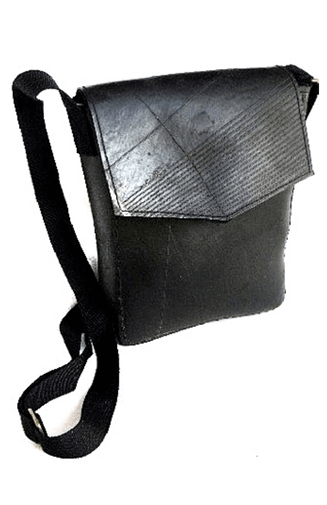 Recycled Tire Bag With Flap