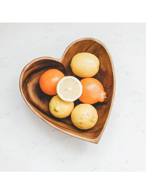 Acacia Wood Heart Bowl