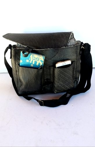 Crossbody Recycled Tire Bag