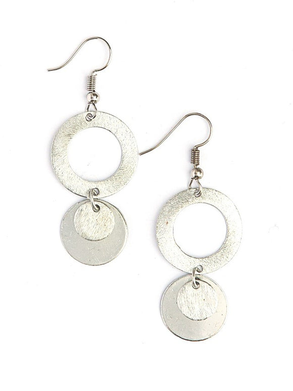 Earrings - Lily Pad (Silver)