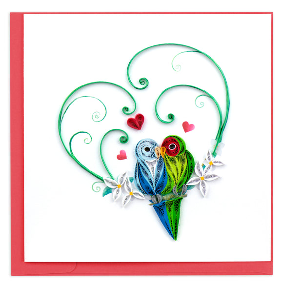 Love Birds - Quilling Card