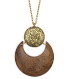 Wood and Brass Pendant