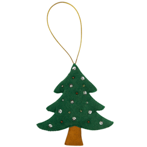 Fabric Ornaments - Green Tree