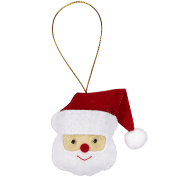 Fabric Ornaments - Santa