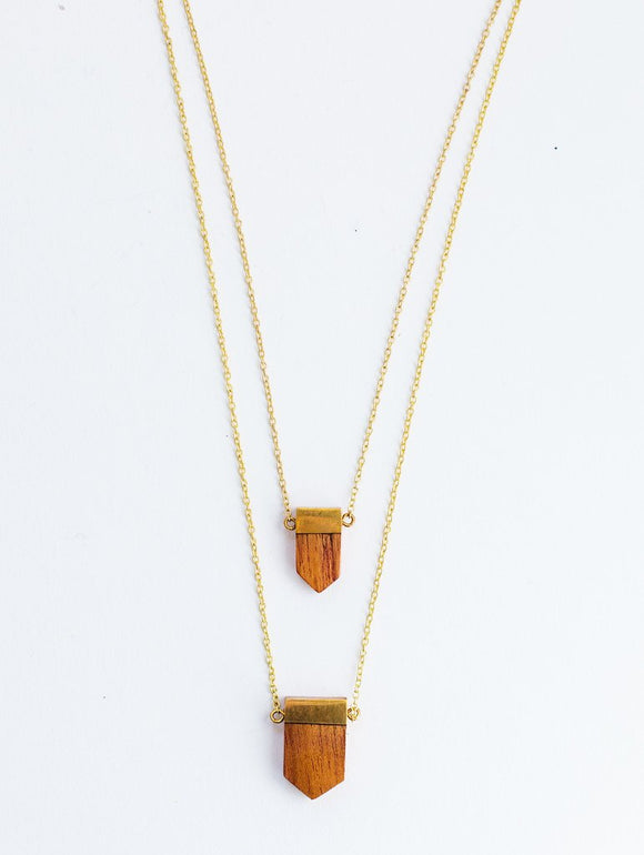 Double Wood Pendant