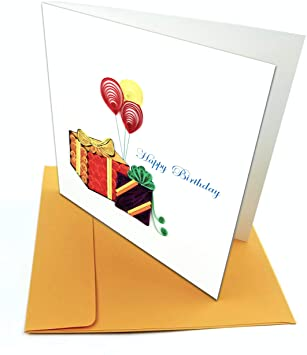 Birthday Presents - Quilling Card