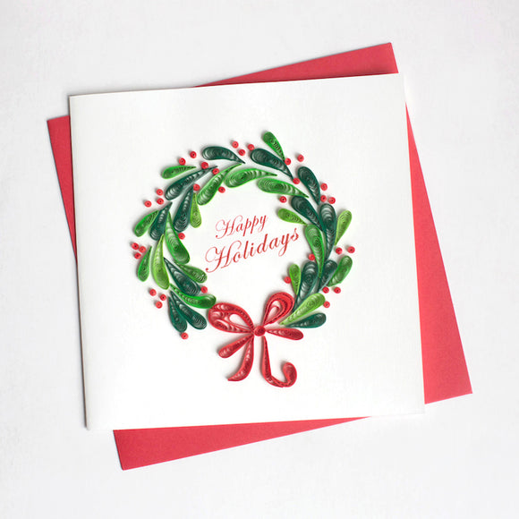 Christmas Wreath - Quilling Card