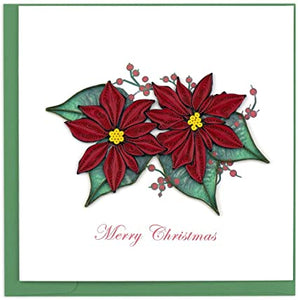 Poinsettia - Quilling Card